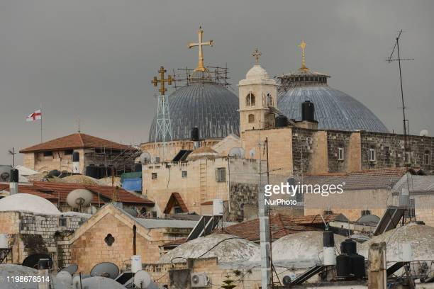 General view of Jerusalem's Church of the Holy Sepulchre. On Tuesday, February 4 in Jerusalem, Israel.