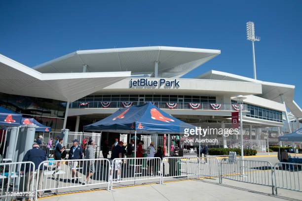 A general view of JetBlue Park as fans start to enter for the spring training gam between the Boston Red Sox and the Pittsburgh Pirates on March 6...