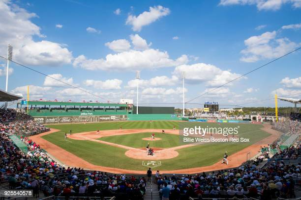 A general view of jetBlue Park during a game between the Boston Red Sox and the Pittsburgh Pirates at JetBlue Park at Fenway South on February 28...
