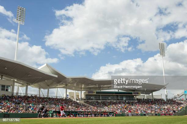 A general view of JetBlue Park during a spring training game between the Minnesota Twins and Boston Red Sox on February 23 2018 in Fort Myers Florida