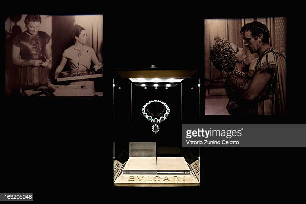 General view of jewelry at the 'Cleopatra' cocktail hosted by Bulgari during The 66th Annual Cannes Film Festival at JW Marriott on May 21, 2013 in...
