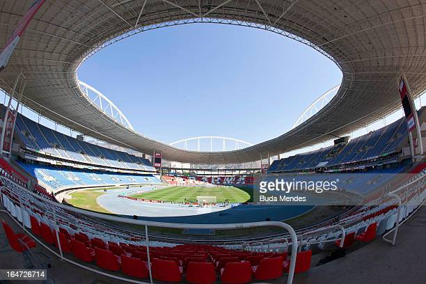 General view of Joao Havelange Stadium on August 29 2011 in Rio de Janeiro Brazil On March 27 Governor of Rio de Janeiro Eduardo Paes decides to...