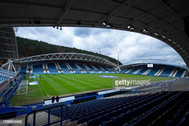 General view of John Smith's Stadium home to Huddersfield Town during the Sky Bet Championship match between Huddersfield Town and Stoke City at John...