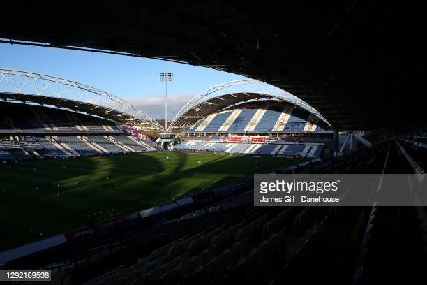 General view of John Smith's Stadium prior to the Sky Bet Championship match between Huddersfield Town and Watford at John Smith's Stadium on...