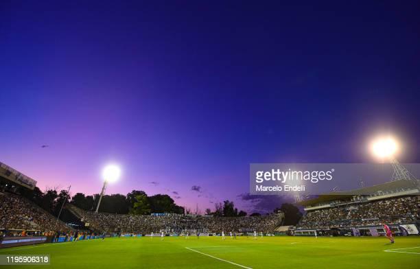 General view of Juan Carmelo Zerillo Stadium during a match between Gimnasia y Esgrima La Plata and Velez as part of Superliga 2019/20 at Juan...