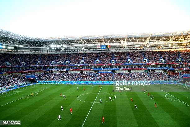 General view of Kaliningrad Stadium during the 2018 FIFA World Cup Russia group G match between England and Belgium at Kaliningrad Stadium on June 28...
