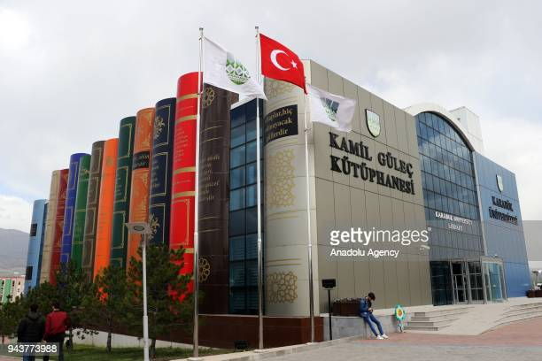 A general view of Kamil Gulec Library which was after a library in Kansas is seen at Karabuk University in Karabuk Turkey on January 03 2018