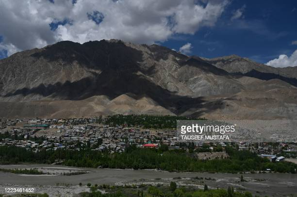General view of Kargil along the Srinagar-Leh Highway on June 29, 2020.