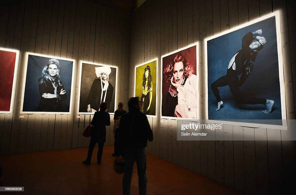 A general view of Karl Lagerfeld's photo exhibition 'The Little Black Jacket' at Porta Venezia as part of 2013 Milan Design Week on April 14, 2013 in Milan, Italy.