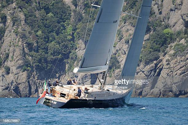 General view of Kauris III with Naomi Campbell on May 4 2013 in Portofino Italy
