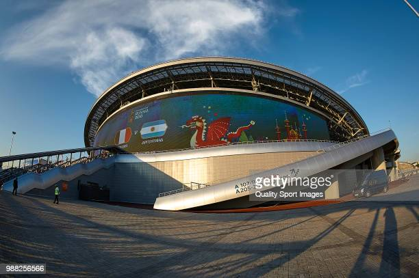 General view of Kazan Arena at the 2018 FIFA World Cup Russia Round of 16 match between France and Argentina at Kazan Arena on June 30 2018 in Kazan...