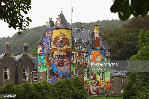 A general view of Kelburn Castle on August 30 2011 in Largs Scotland The Earl of Glasgow has asked Historic Scotland if the graffiti can remain as a...