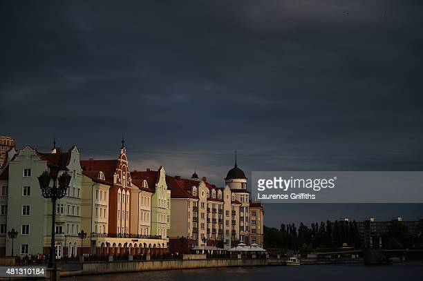 A general view of Kelinigrad City during a media tour of Russia 2018 FIFA World Cup venues on July 18 2015 in Kaliningrad Russia