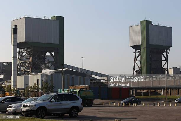 A general view of Kellingly Colliery where last night two men became trapped in the pit following a roof fall on September 28 2011 in Knottingley...
