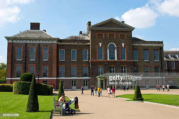 A general view of Kensington Palace after news broke that the Duchess of Cambridge is pregnant with her second child on September 8 2014 in London...