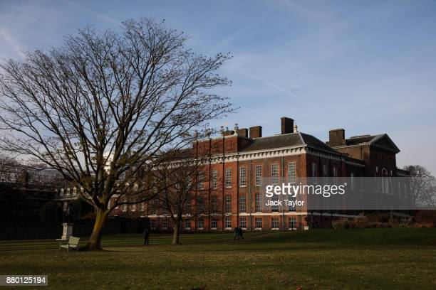 A general view of Kensington Palace in Kensington Gardens on November 27 2017 in London England Prince Harry and Meghan Markle's engagement was...