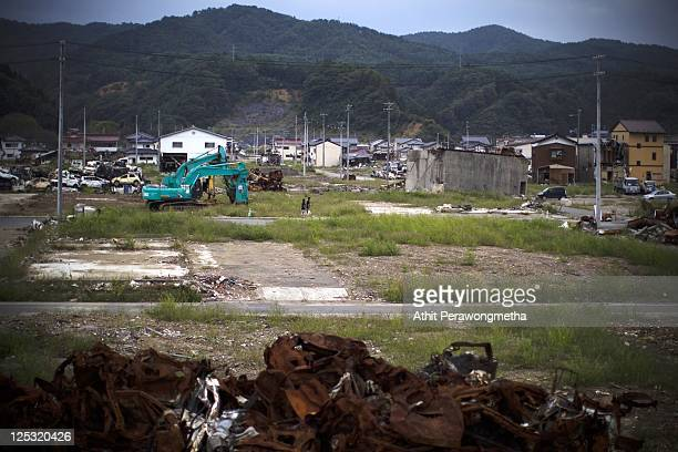 A general view of Kesennuma prior to the sixth month anniversary of the March 11 earthquake and massive tsunami on September 10 2011 in Kesennuma...