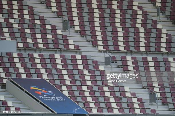General view of Khalifa International Stadium during the AFC Champions League Round of 16 match between Vissel Kobe and Shanghai SIPG on December 07,...