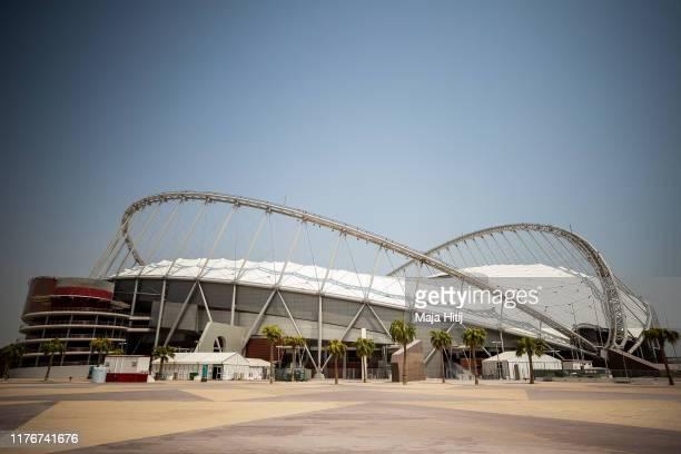 General view of Khalifa International Stadium prior to the 17th IAAF World Athletics Championships Doha 2019 on September 24, 2019 in Doha, Qatar.