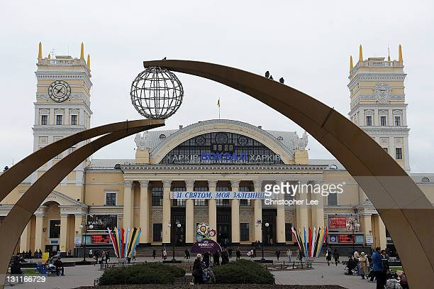 General view of Kharkov train station on November 2 in Kharkov Ukraine Kharkov is Ukraine second largest city and is a Euro2012 Venue City which will...