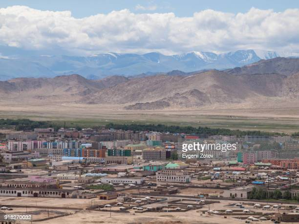 General view of Khovd (aka Hovd) city in western part of Mongolia