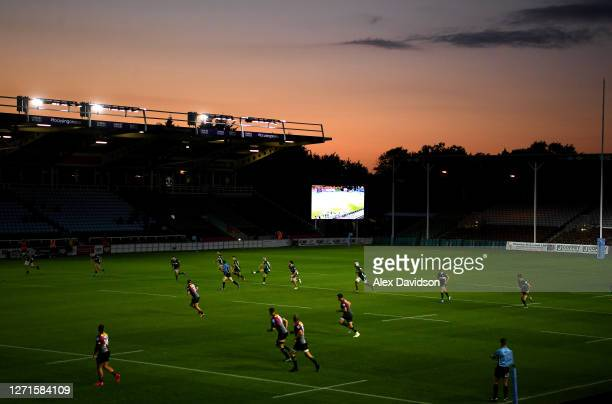 General view of kick off during the Gallagher Premiership Rugby match between London Irish and Harlequins at Twickenham Stoop on September 09, 2020...