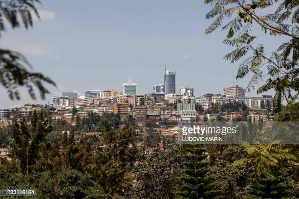 General view of Kigali city center on May 26 prior to the official visit of the first French head of state to Rwanda since 2010.