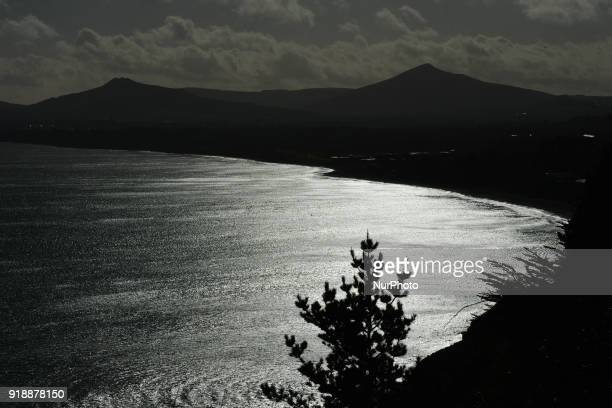 A general view of Killiney Bay and cost line On Thursday February 15 Dublin Ireland
