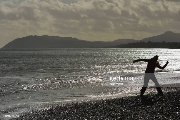 A general view of Killiney beach and cost line On Thursday February 15 Dublin Ireland