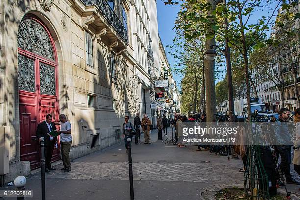 A general view of Kim Kardashian's luxury apartment Hotel de Pourtales on Rue Tronchet in the 8th arrondissement where she was robbed at gunpoint by...