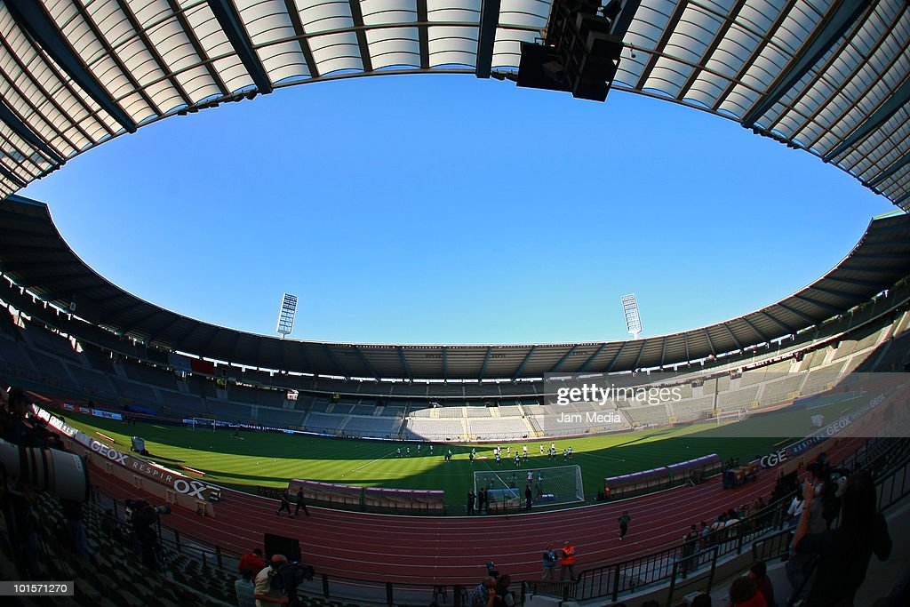 General view of King Baudouin Stadium during a Mexico training session on June 2, 2010 in Brussels, Belgium.
