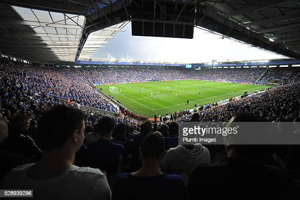General View of King Power Stadium during the Barclays Premier League match between Leicester City and Everton at the King Power Stadium on May 7th...