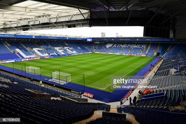 A general view of King Power Stadium home of Leicester City prior to the Premier League match between Leicester City and Watford at The King Power...