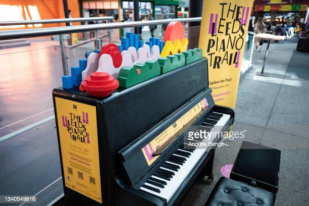 General view of Kirkgate Market during the Leeds Piano Trail 2021 on September 15, 2021 in Leeds, England.