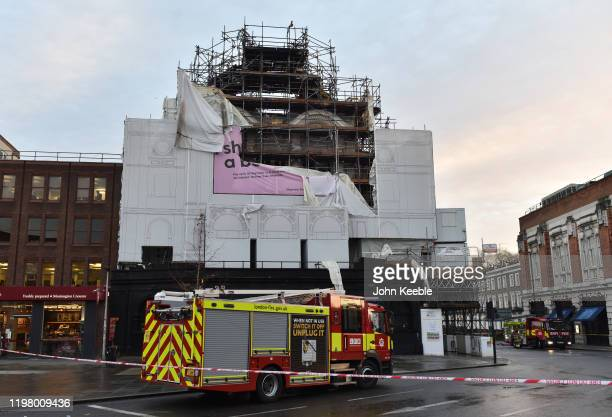 General view of KoKo music venue in Camden Town after fire crews spent the night tackling a large blaze on January 7, 2020 in London, England.