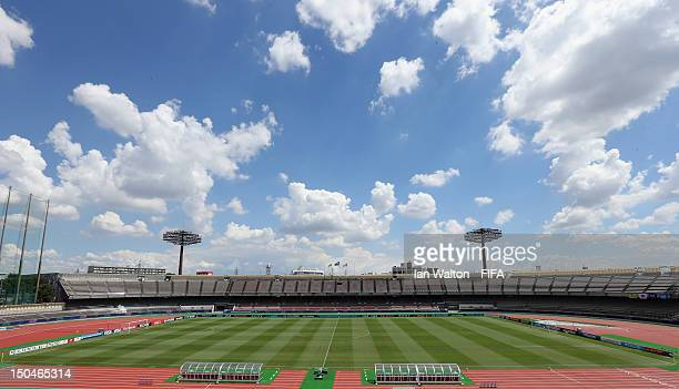 General view of Komaba Stadium befor the FIFA U-20 Women's World Cup Japan 2012, Group B match between Brazil v Italy at Komaba Stadium on August 19,...