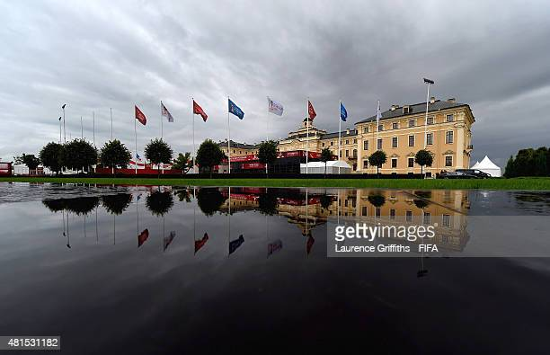 General view of Konstantin Palace the venue for the 2018 FIFA World Cup Preliminary Draw on July 22, 2015 in Saint Petersburg, Russia.