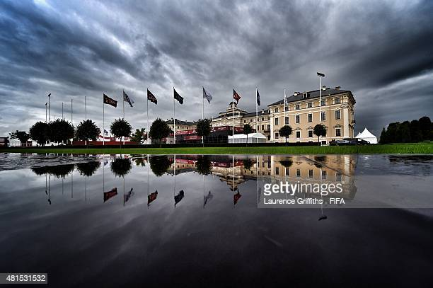 A general view of Konstantin Palace the venue for the 2018 FIFA World Cup Preliminary Draw on July 22 2015 in Saint Petersburg Russia