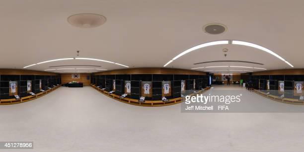 General view of Korea Republic dressing room before the 2014 FIFA World Cup Brazil Group H match between Korea Republic v Belgium at Arena de Sao...