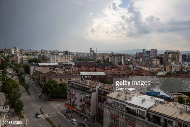 June 28, 2020: A general view of Kosovo capital Prishtina on June 28, 2020. President Hashim Thaci, who was the former political leader of the Kosovo...