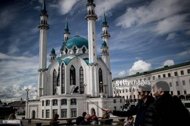 General view of Kul Sharif Mosque prior to the start of the FIFA 2018 World Cup on June 10 2018 in Kazan Russia