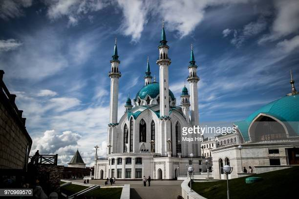 General view of 'Kul Sharif Mosque' prior to the start of the FIFA 2018 World Cup on June 10 2018 in Kazan Russia