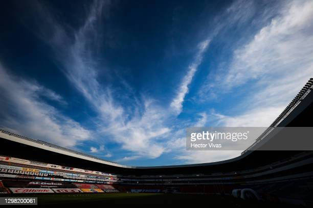 General view of La Corregidora Stadium before the 3rd round match between Queretaro and Pumas UNAM as part of the Torneo Guard1anes 2021 Liga MX at...
