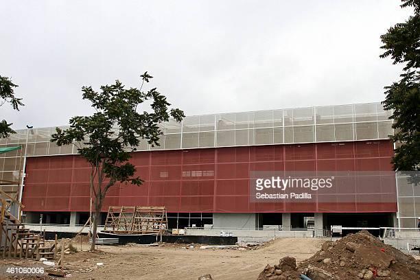 General view of La Portada Stadium of La Serena under restoration ahead of the Copa America Chile 2015 on December 11 2014 in La Serena Chile The...