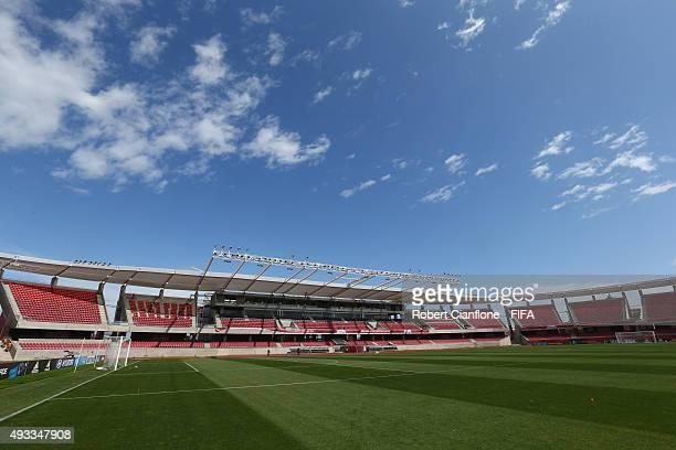 A general view of La Portada Stadium on October 19 2015 in La Serena Chile