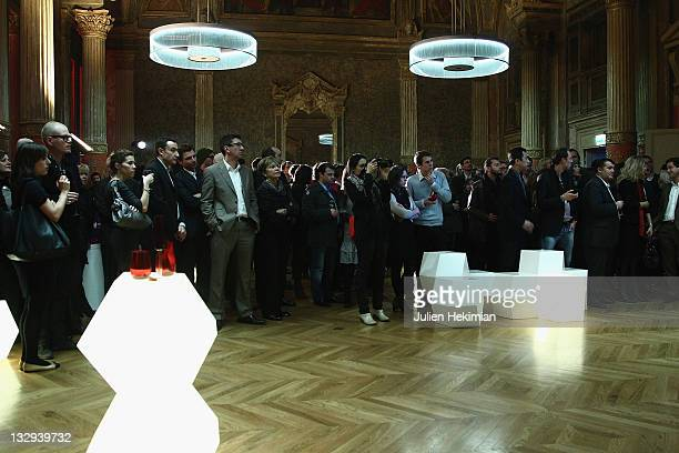 A general view of 'La Vache Qui Rit' 90th anniversary party at La Gaite Lyrique on November 15 2011 in Paris France
