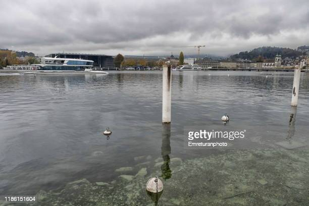 general view of lake lucerne from south side - emreturanphoto stock pictures, royalty-free photos & images