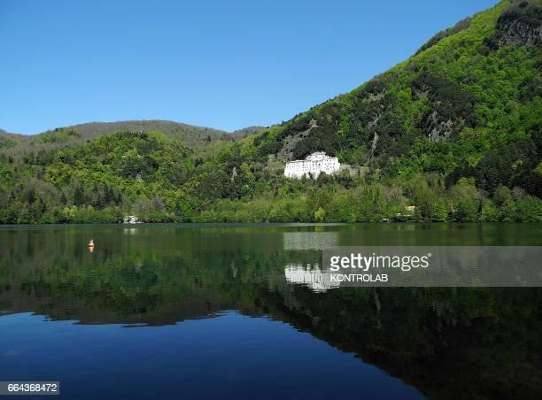 MONTICCHIO BASILICATA ITALY A general view of lake Monticchio in region Basilicata
