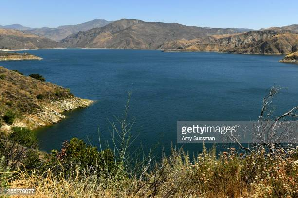 A general view of Lake Piru where actress Naya Rivera was reported missing Wednesday on July 9 2020 in Piru California Rivera known for her role in...