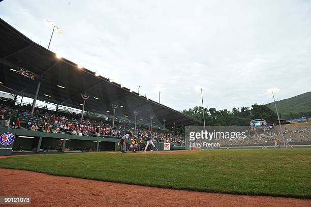 General view of Lamade Stadium during the game between Asia Pacific and the Caribbean in the international semifinal at Lamade Stadium on August 27...